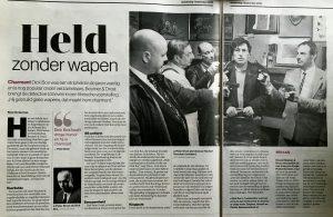 """De Stentor, door René Vorderman """"Held zonder wapen"""". 01-09-2016"""